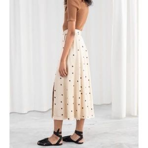 NWT & Other Stories Satin a-line midi skirt